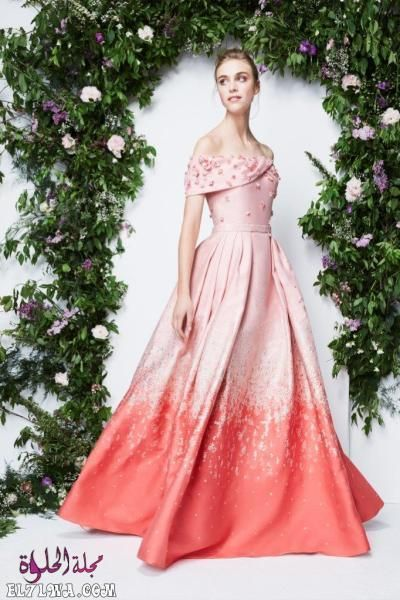 اجمل فساتين سهرة 2021 موديلات فساتين سهرة موضة 2021 قد م المصممون مجموعة من أجمل فساتين سهرة لعام ٢٠٢١ مزينة Fashion Beautiful Evening Dresses Pamella Roland