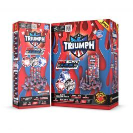 Triumph 5 Inch XL Red, White, & Blue Canister Shell Kit