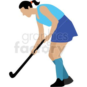 Girl Playing Field Hockey Vector Clipart Royalty Free Clipart 409659 Vector Clipart Clip Art Royalty Free Clipart