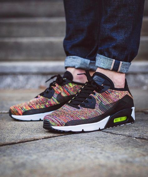 Nike Air Max 90 x Ultra 2.0 Flyknit Multi Color in 2019