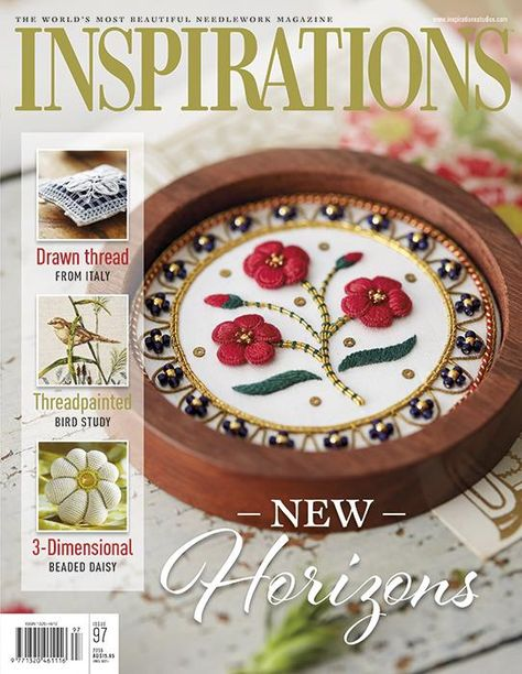 Inspirations - Embroidery Magazine from Australia, Issue #97, New Horizons.