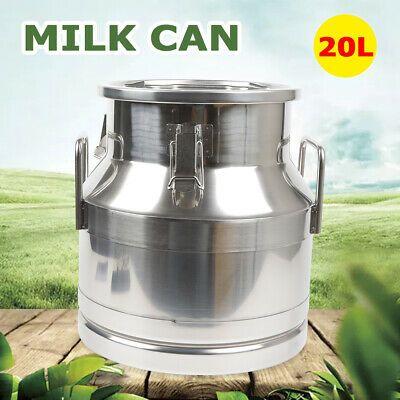 Sponsored Ebay 20 Liter Stainless Steel Milk Can Wine Pail Bucket Tote Jug Restaurant Usa Ship In 2020 Milk Cans Milk Pail Pail Bucket