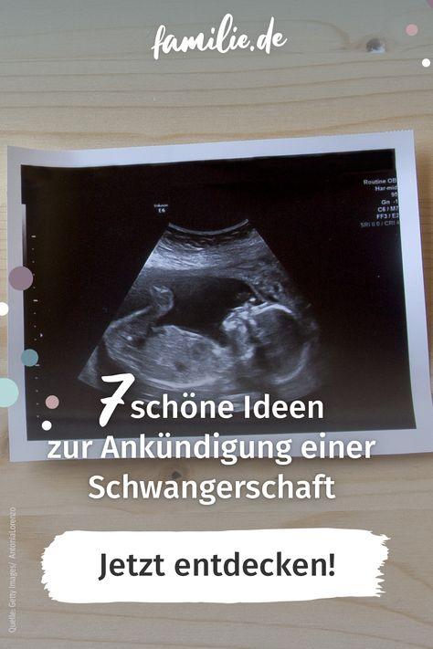 Ankündigen familie schwangerschaft WANN IST
