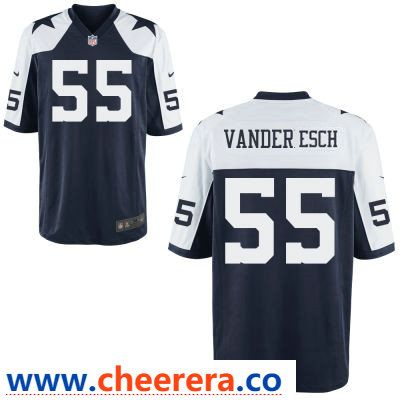 low priced 1f0bd 5b9f2 Men's Dallas Cowboys #55 Leighton Vander Esch Blue ...