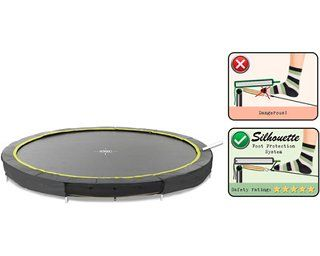 Exit Bodentrampolin Silhouette Ground O 244 Cm Schwarz Kaufen Bei Obi Bodentrampolin Trampolin Obi
