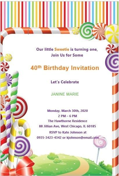 16 Free 40th Birthday Party Invitation Templates Ms Office Documents Party Invite Template 40th Birthday Party Invites Free Birthday Invitation Templates
