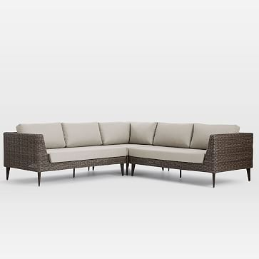 Marina Outdoor 3 Piece L Shaped Sectional Lounge Chair Outdoor Small Lounge Chairs Outdoor Sectional Sofa