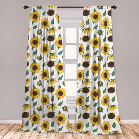 210 Sunflower Curtain Ideas In 2021 Curtains