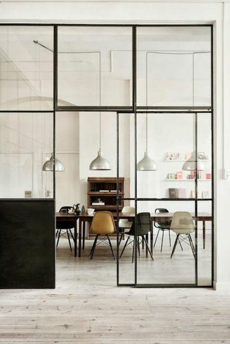 53 photos pour trouver la meilleure cloison amovible! Sitting - porte coulissante style atelier