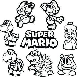 Super Mario World Coloring Pages Unique Super Mario Bros Coloring Pages Printables Brothers Colori Mario Bros Para Colorear Dibujos De Mario Mario Bros Dibujos