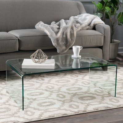Arviso Sled Coffee Table Coffee Table Clear Coffee Table
