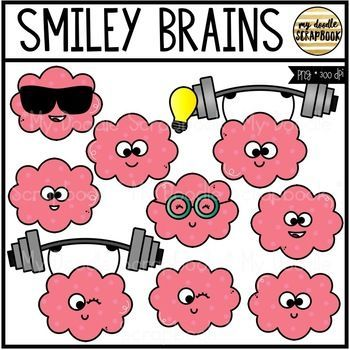 smiley brains clip art for personal commercial use clip art growth mindset activities mindset activities pinterest