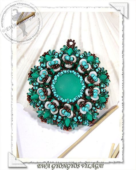 Kendra  beaded pendant PDF pattern by Ewagyongyosvilaga on Etsy, Ft1450.00