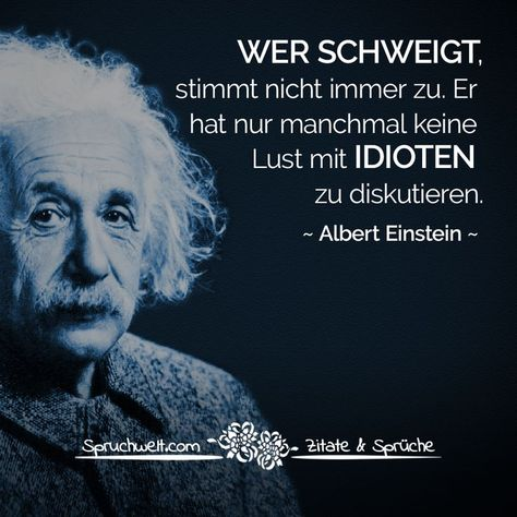 Who is silent, does not always agree. He only sometimes has no desire to discuss with idiots - Albert Einstein quote #agree #always #desire #discuss #idiots #silent #sometimes
