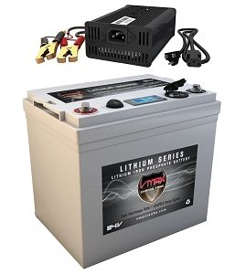 Vpg24c 50lfp Li Iron 24v 50ah Deep Cycle Battery Power Generator W Charger Solar Power Battery Charger Solar Panel Battery