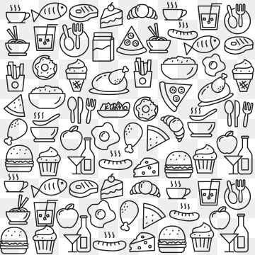 Set Of Food Doodle Vector Illustration Food Clipart Food Vector Png And Vector With Transparent Background For Free Download Food Doodles Doodles Doodle Icon