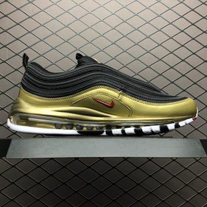 Nike Air Max 97 QS BlackVarsity Red Metallic Gold White