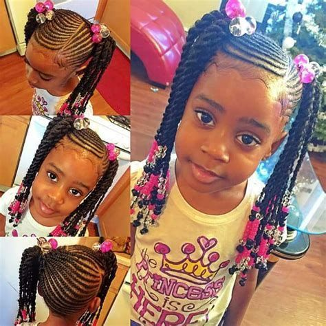 Image result for two ponytails braids black girl