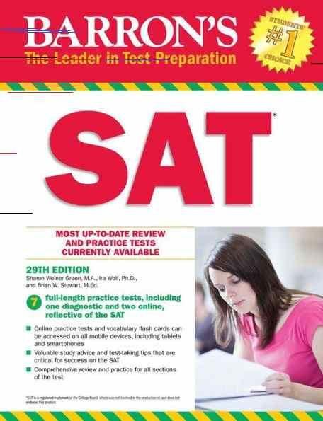 Barron S Sat 29th Edition With Bonus Online Tests Paperback Online Tests Barron New Sat