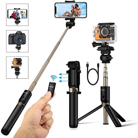 buy online e6776 35def BlitzWolf Selfie Stick Tripod with Bluetooth Remote for Gopro iphone ...