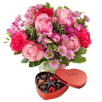 blommor och choklad