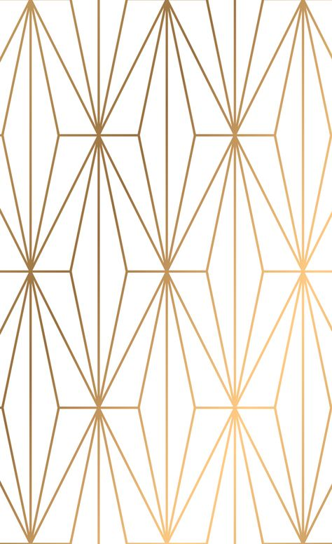Gold Geometric Pattern Illustration Window Curtains by victorys