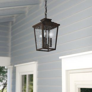 Farmhouse Rustic Mayhugh Collection Birch Lane Hanging Porch Lights Outdoor Hanging Lights Outdoor Wall Lantern