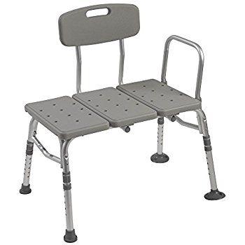 Amazon Com Tub Transfer Bench By Vive Bath Shower Transfer Bench Adjustable Handicap Shower Chair Me Transfer Bench Shower Chair Handicap Shower Chair