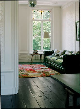 Black Floors Create Elegant Vibes In Any Home Girlfriend Is Better Home Decor House Interior Black Wooden Floor