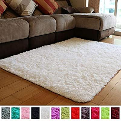 Amazon Com Pagisofe Soft Comfy White Area Rugs For Bedroom Living Room Fluffy Shag Fur Carpet For Kids Nursery P White Fluffy Rug Carpets For Kids Bedroom Rug