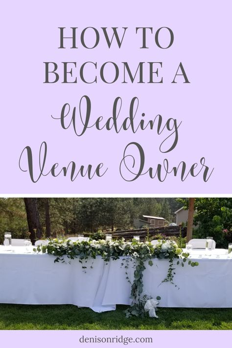 Your wedding venue business doesn't have to wait! Learn about how to become a wedding venue owner now! Event Planning Tips, Event Planning Business, Wedding Planning, Business Goals, Party Planning, Wedding Ideas, Rustic Wedding Venues, Wedding Events, Tent Wedding