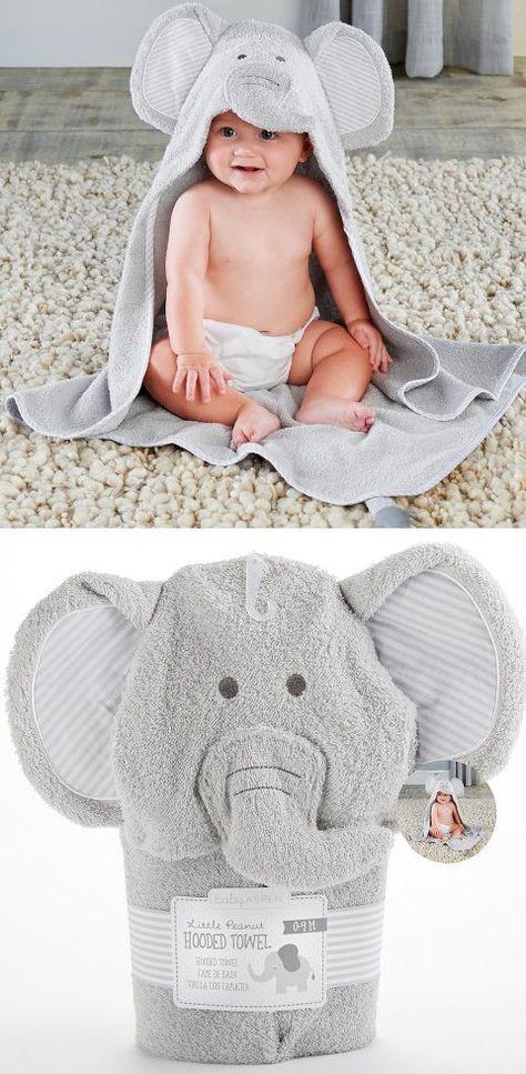 Baby Hooded Towel Blue Elephant 3d design Super Soft gift
