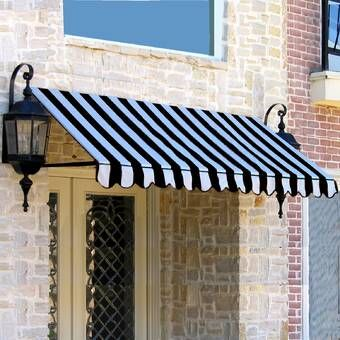 Houstonian Standard Window Awning Brick Exterior House Window Awnings Awning Over Door