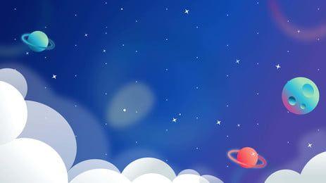 Cartoon Cute Universe Planet Background Design Background Design Cartoon Background Graphic Design Background Templates