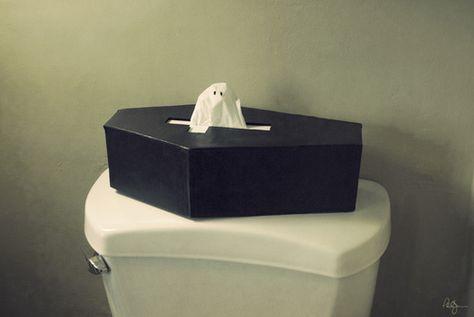 Coffin tissue box