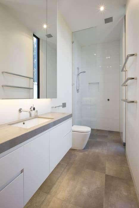 39 Galley Bathroom Layout Ideas To Consider Modern Small Bathrooms Narrow Bathroom Designs Bathroom Design Small