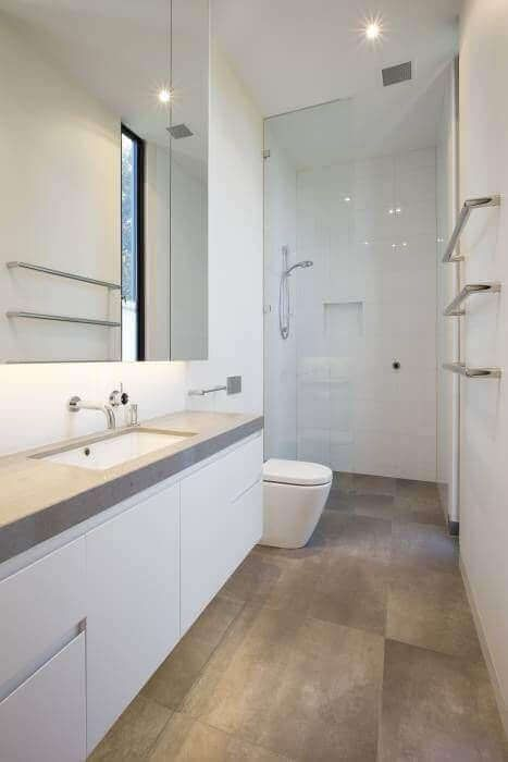 39 Galley Bathroom Layout Ideas To Consider Modern Small Bathrooms Bathroom Design Small Bathroom Layout