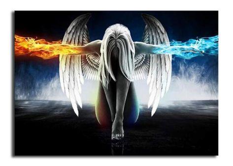 Angel Hand - Round 100x140cm