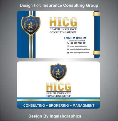 Insurance Titles For Business Cards Free Vector Art Design Corel