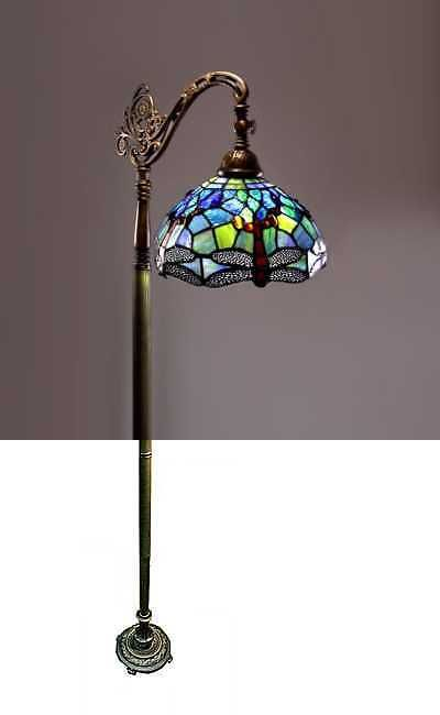 Lamps 112581 Tiffany Style Floor Lamp Glass Light Dragonfly