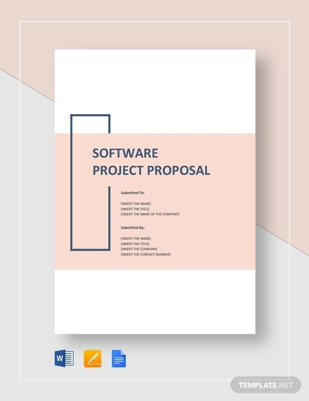 Software Project Proposal Template Free Pdf Google Docs Word Apple Pages Template Net Word Template Design Proposal Software Project Proposal Template