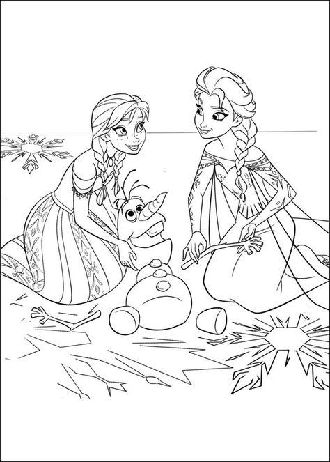 Anna Olaf And Elsa Coloriage раскраски холодные сердца Et дети