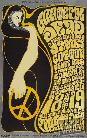 Nov 18––Nov 20, 1966  Grateful Dead, Fillmore Auditorium (San Francisco, CA)