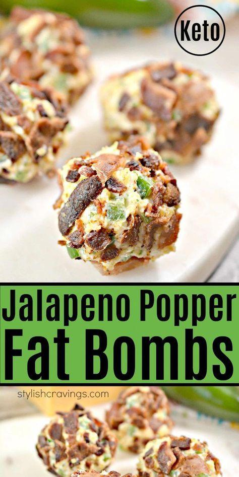 Keto Jalapeno Popper Fat Bombs – Easy keto appetizer or snack! Keto Jalapeno Popper Fat Bombs – Easy keto appetizer or snack! Jalapeno Poppers, Jalapeno Popper Recipes, Keto Foods, Keto Snacks, Keto Desserts, Health Desserts, Keto Fat, Low Carb Keto, Low Carb Recipes