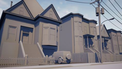 The Neighbourhood: Planning the Texturing Stage for a Modular Scene