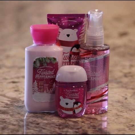 Bath Body Works Twisted Peppermint Collection Nwt Bath And
