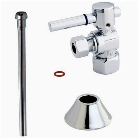Kingston Brass Kingston Brass This 3 Piece Toilet Supply Kit From Kingston Brass Provides All The Necessary Parts In Diy Plumbing Toilet Trim Plumbing Problems