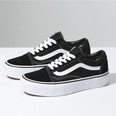 Details About Vans Old Skool Platform Black White Vn0a3b3uy28 65 In 2020 Vans Old Skool Vans Sneakers Black