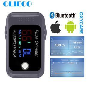Olieco Portatil Mini Ios Android Bluetooth Dedo Oximetro De Pulso