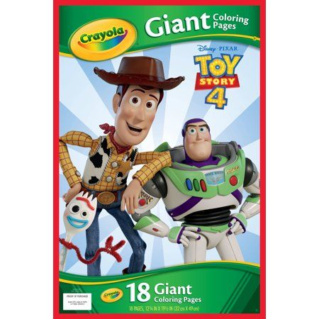Crayola Giant Coloring Pages Featuring Toy Story 4 Walmart Com Kids Coloring Books Coloring Books Crayola